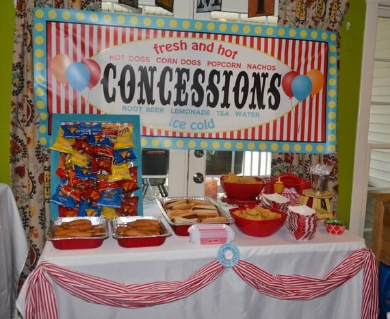 Digital File Carnival Circus Concessions Banner Food Table Sign Girl Boy Birthday Party Bridal Baby #boybirthdayparties
