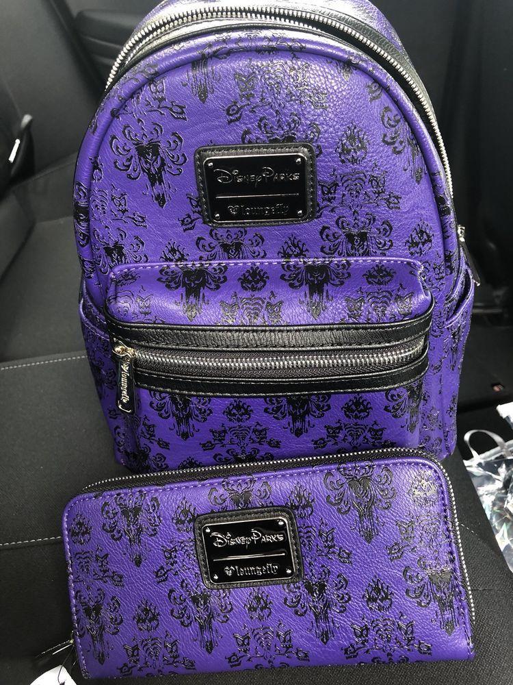 c1cebb45765 Disney Loungefly HAUNTED MANSION mini Backpack   Wallet Set EXCLUSIVE!   Disneyana  Disney  WaltDisney