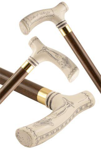 Duke of Wellington Moulded Top Collectors Stick - Stick & Cane Shop