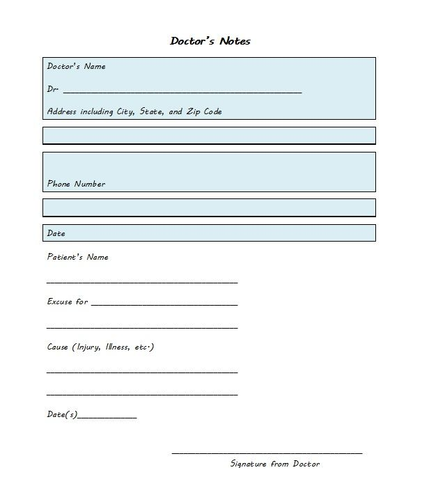21 Free Doctor Note Excuse Templates Template Lab Doctors Note Doctors Note Template Notes Template