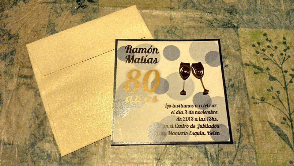 Tarjetas Para Invitación De 80 Años Filigrana Quilling