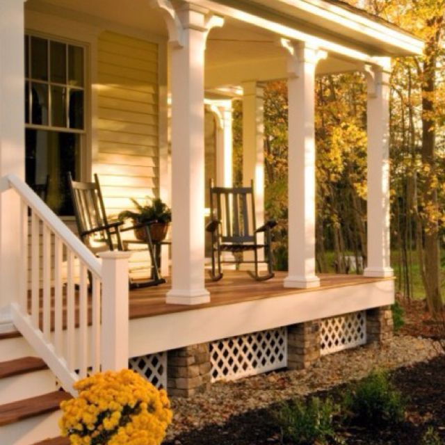 Love the front porch! Just needs to wrap around the rest of the house :)