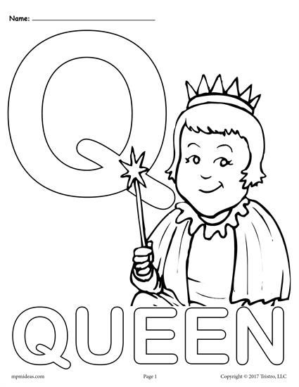 Letter Q Alphabet Coloring Pages 3 Free Printable Versions