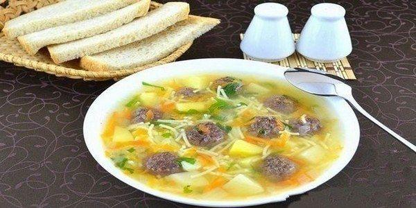 Vermicelli soup with buckwheat dumplings