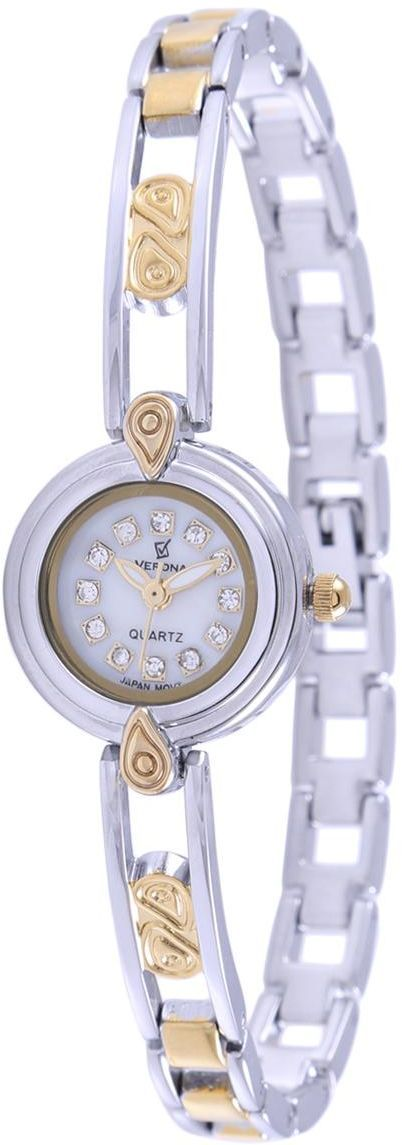 c04c24c85a6f timenchimes   Verona Women s White Dial Casual Watch 22k Gold Plated Strap  - 7665GB-L price