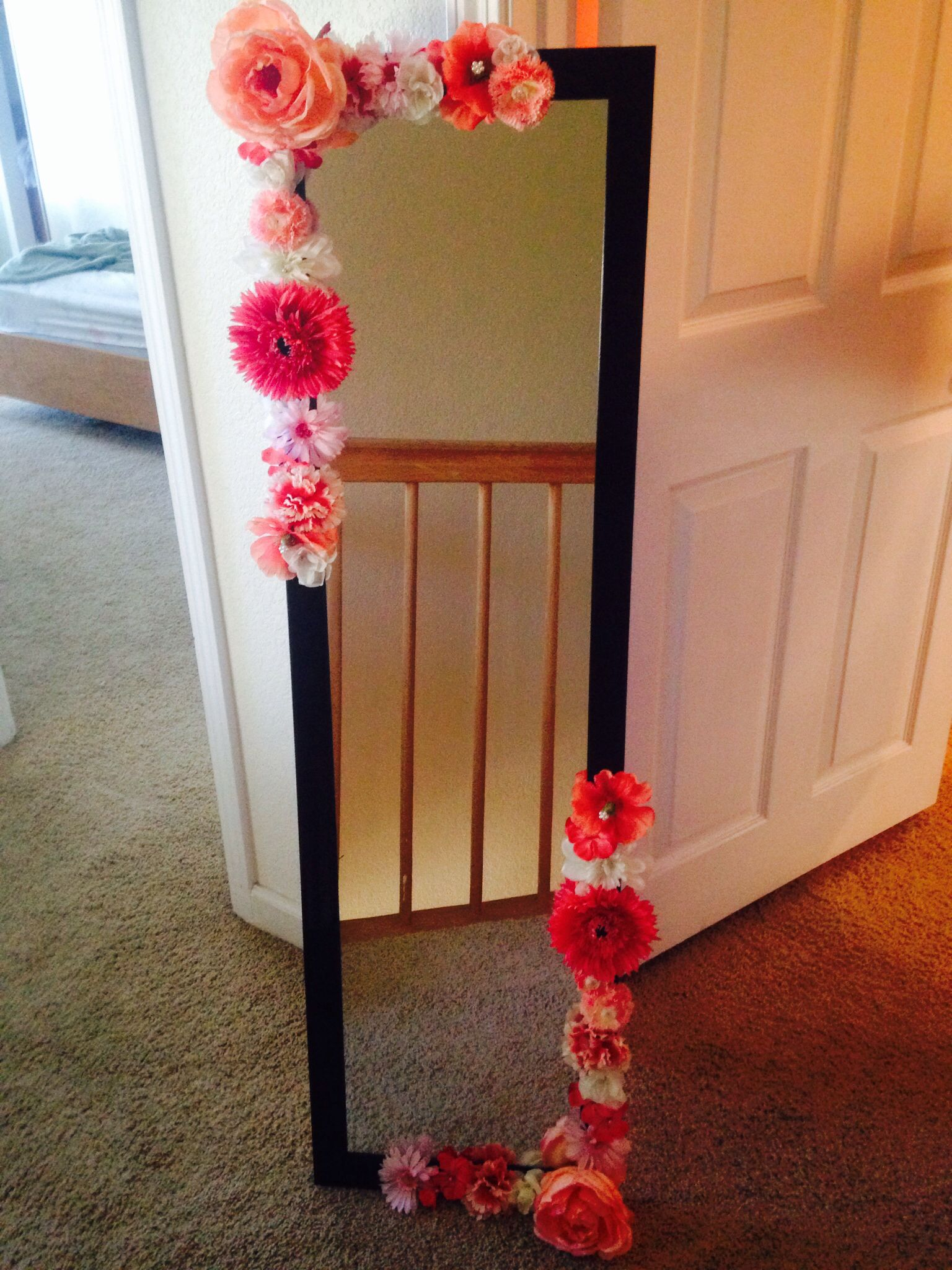 Diy Flower Mirror Bedroom Ideas Diy Home Decor Unicorn