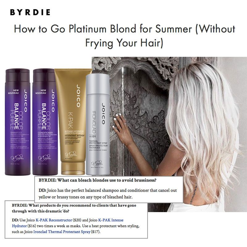 How To Go Platinum Blond For Summer Without Frying Your Hair