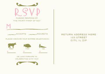 wedding invitations rsvp invitation ideas and wedding