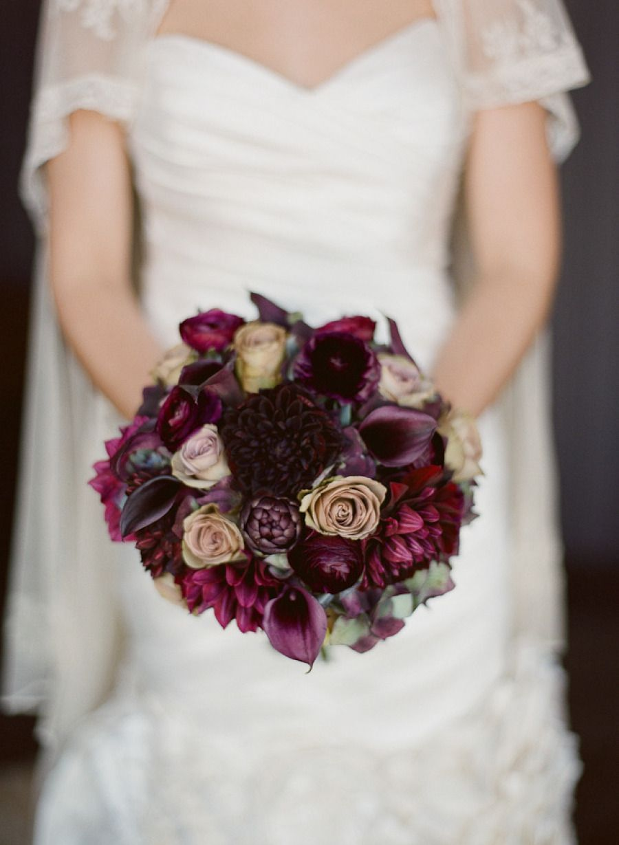 Nyc studio wedding from carmen santorelli photography burgundy