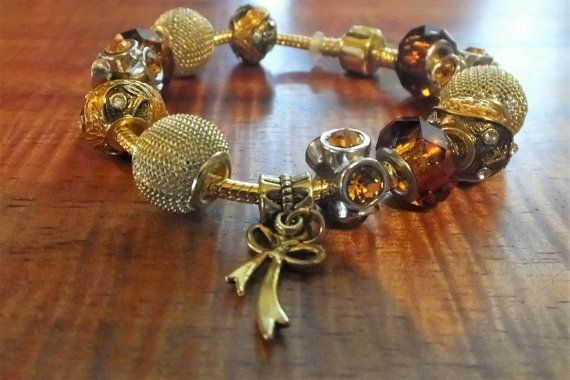 European Style Gold Plated Charm Bracelet by BlingItOutLoudCharms - european resume template