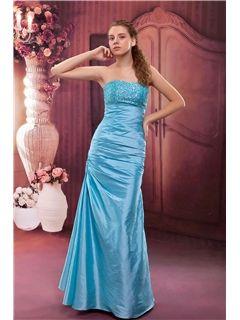 Sexy A-Line Strapless Floor-Length Beading Anita's Prom Dress