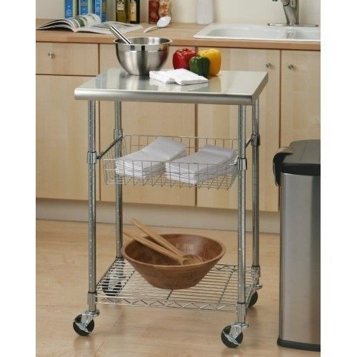 Kitchen Island Cart Storage Small Table On Wheels Utility Modern Portable Steel This Stainless Provides You With The Chef Work Station