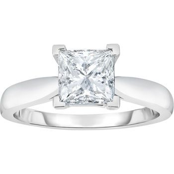 1.03 ct Princess Cut, IF Clarity, G Colour Diamond Solitaire Ring