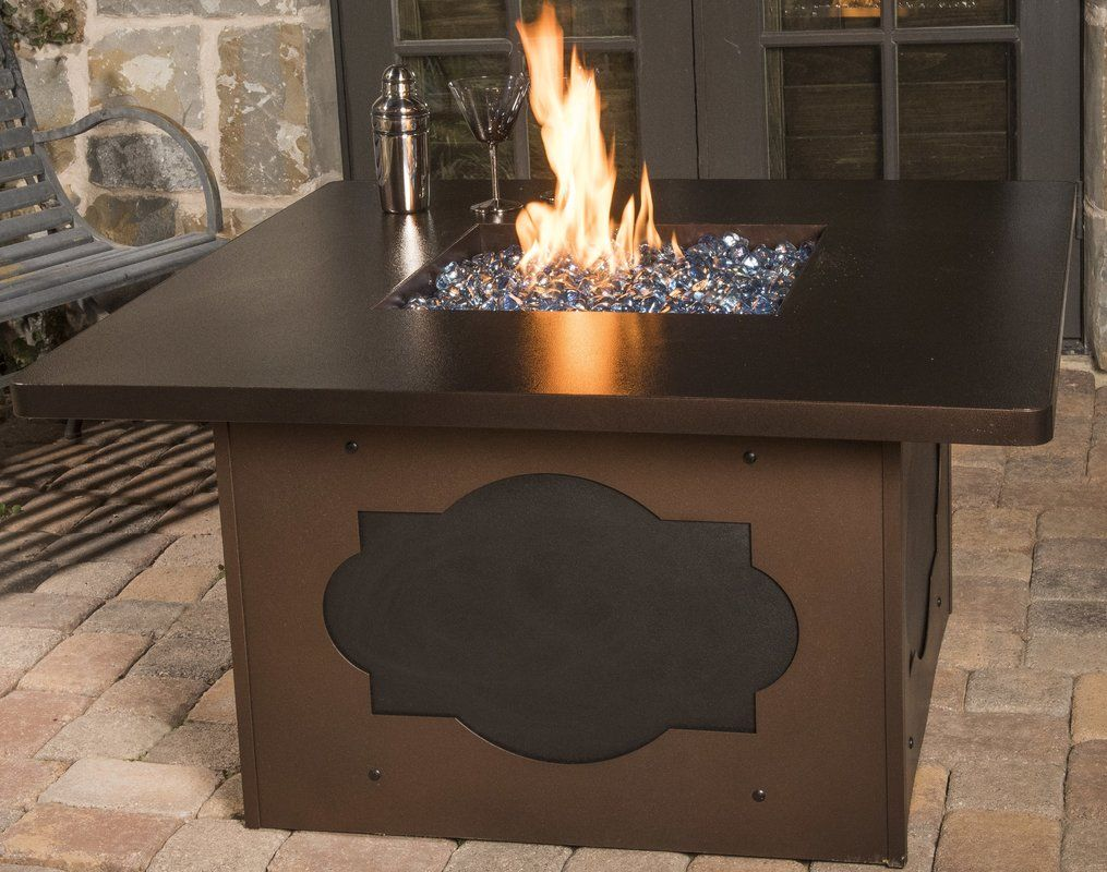 Maitreu d steel natural gas fire pit table outdoors decor