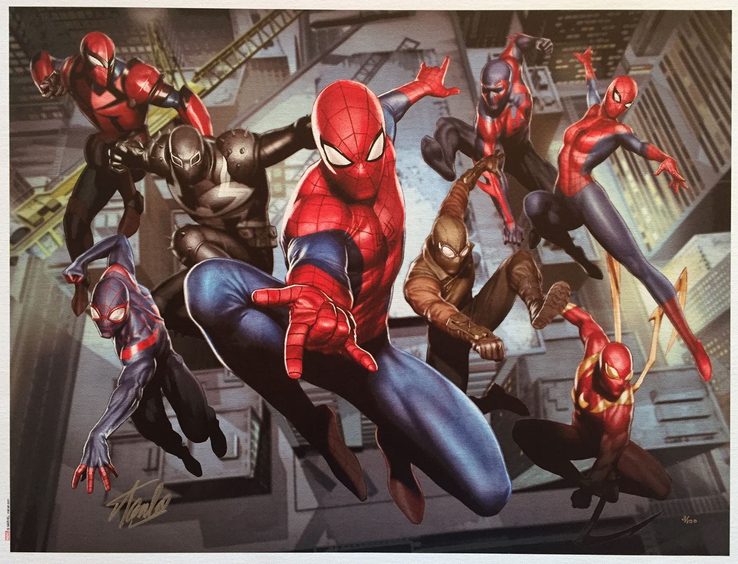 """web-warriors"" Limited Edition Superhero Art Spiderman Spider Marvel"