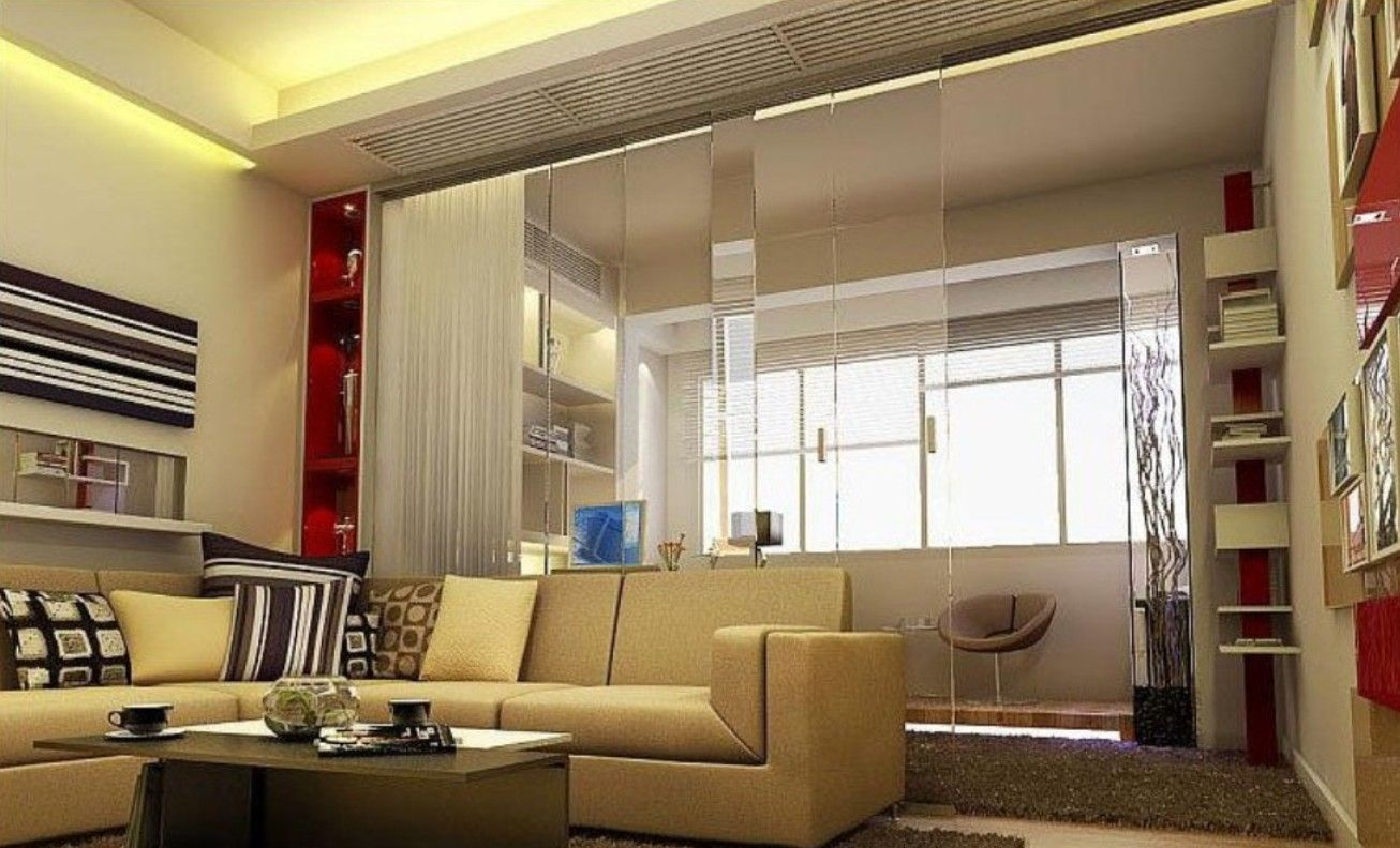 Put Modern Partition to Separate Living Room