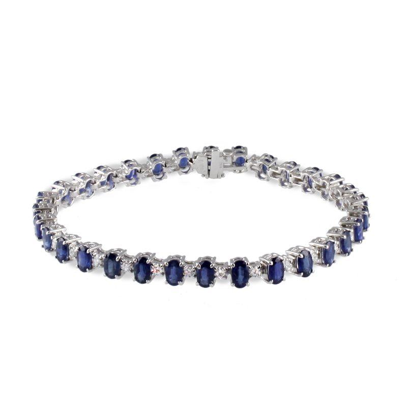 Fink's Jewelers - Fink's Upright Oval Sapphire and Diamond Bracelet, $5,750.00 (http://finksjewelers.com/finks-upright-oval-sapphire-and-diamond-bracelet/)
