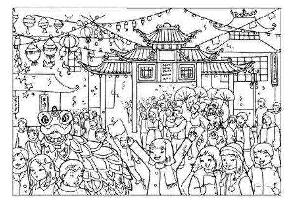 chinese new year coloring pages | Chinese New Year Coloring Pages ...