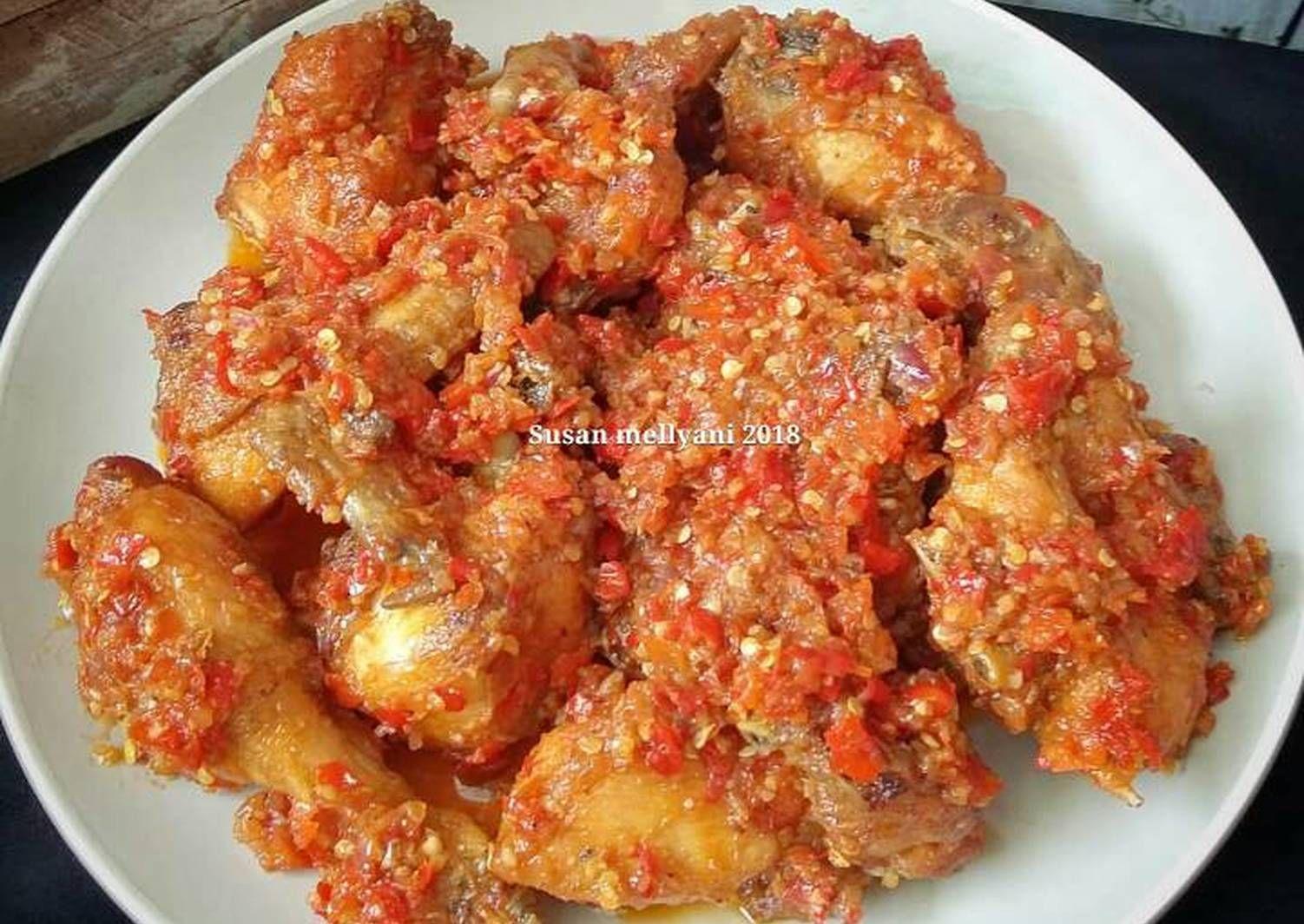 Resep Ayam Balado Oleh Susan Mellyani Resep Resep Ayam Makanan Resep Makanan