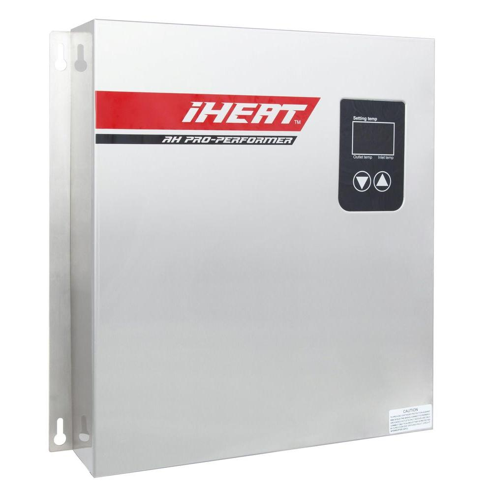 Iheat 27 Kw 5 2 Gpm Real Time Modulating Electric Tankless Water Heater Home Depot Water