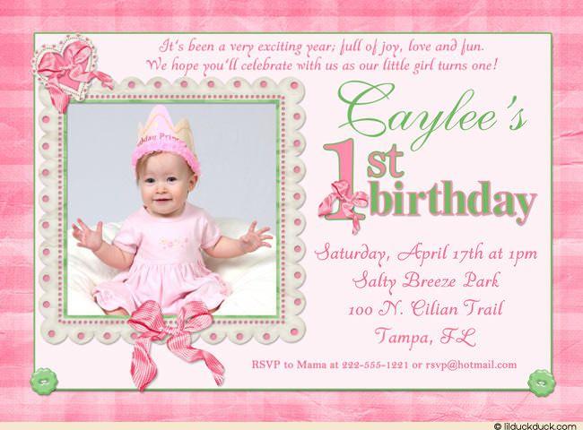 cool 1st birthday invitation wording | free printable invitation, Birthday invitations