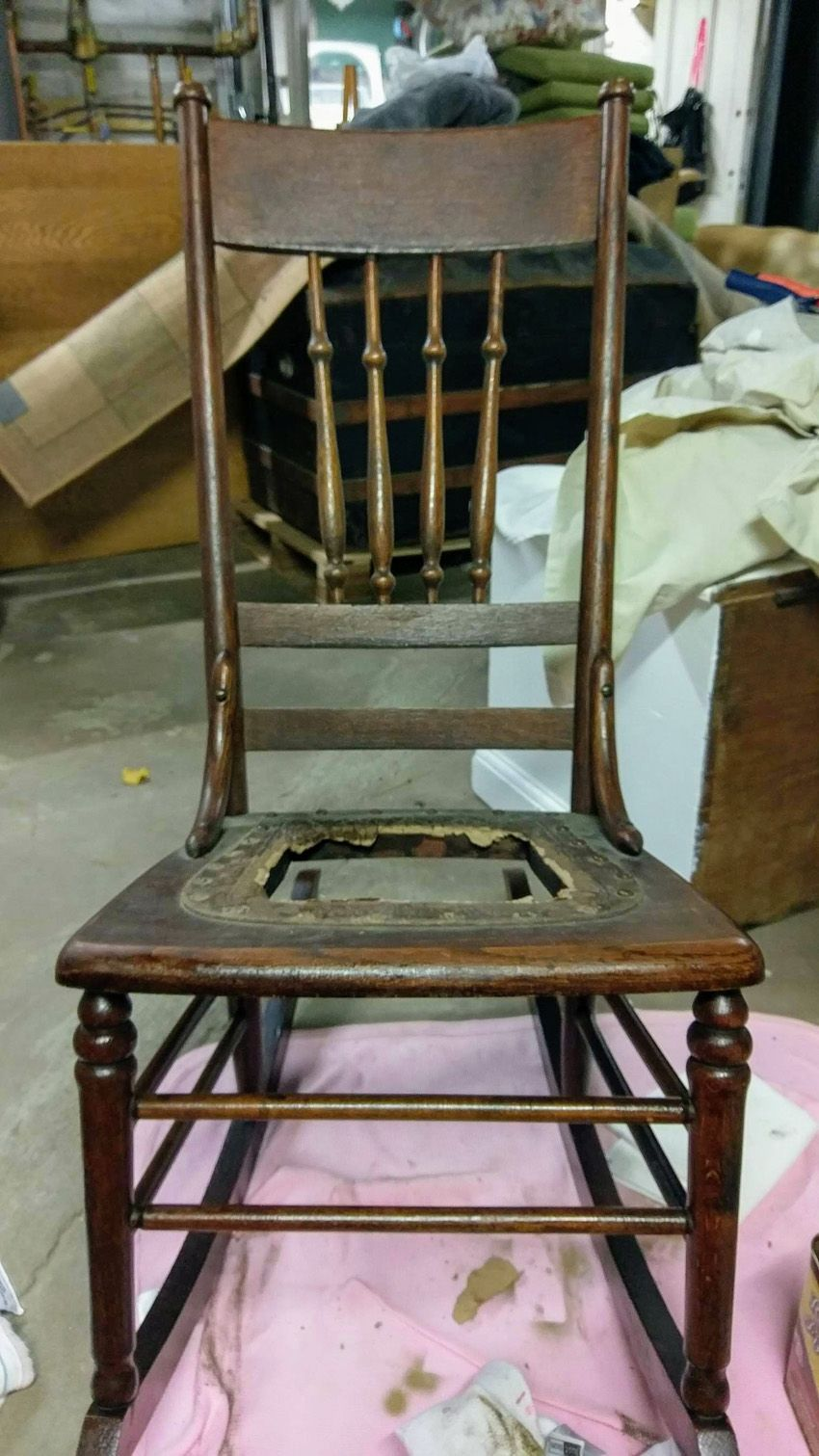 How to Replace a Leather Seat in an Antique Chair | Old ...