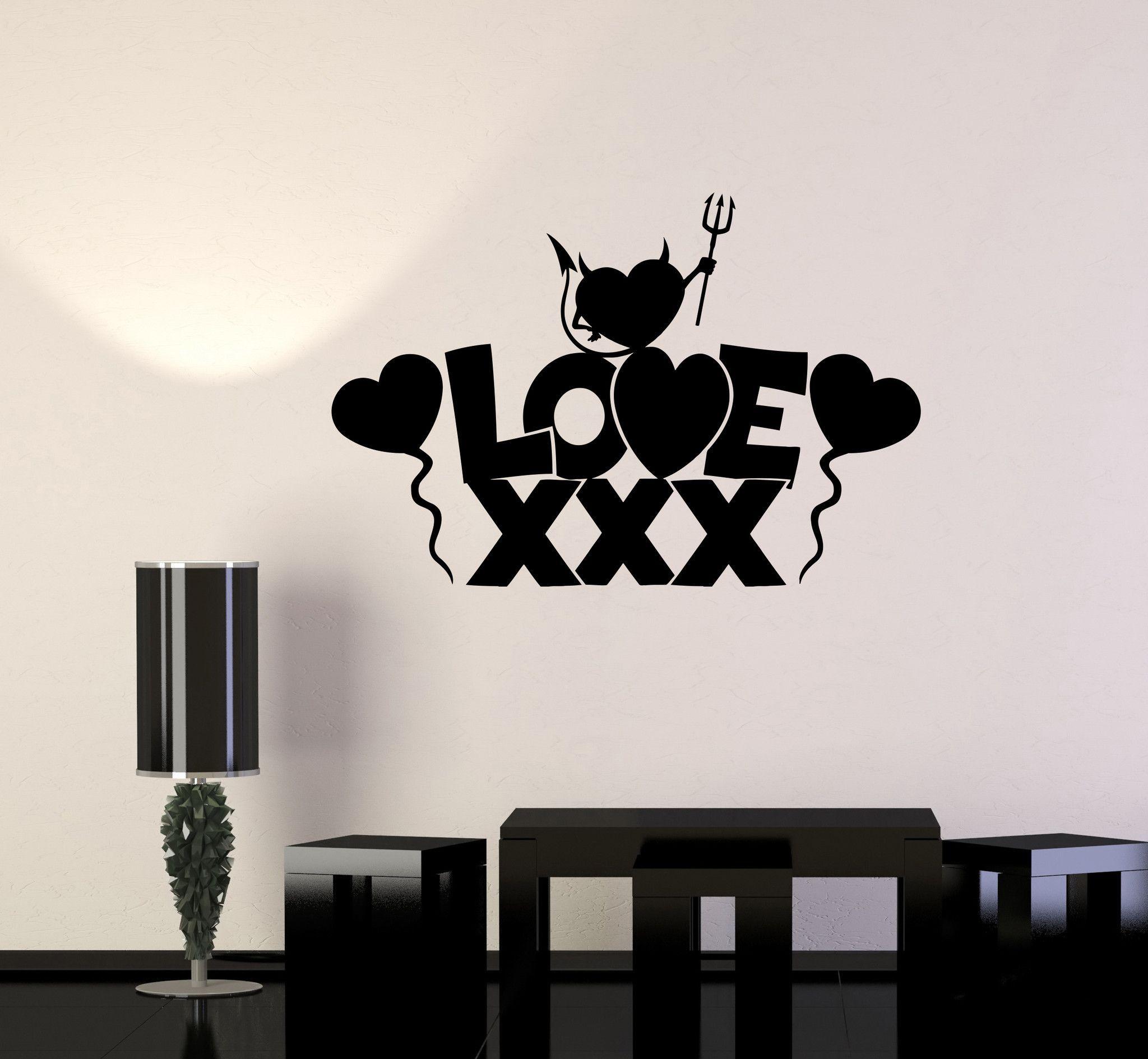 Vinyl Wall Decal Love Sex Shop Heart For Adults Sticker (660ig) & Vinyl Wall Decal Love Sex Shop Heart For Adults Sticker Unique Gift ...