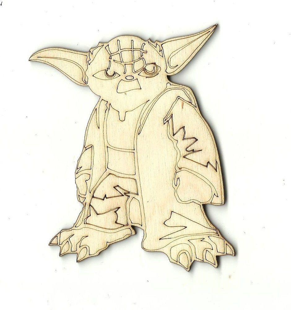 Yoda laser cut wood shape spc sport carvings pinterest