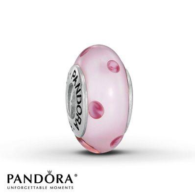 Pandora Polka Dots Charm Pink Glass Sterling Silver Pandora Bracelet Charms Pandora Pink Pandora Jewelry Charms