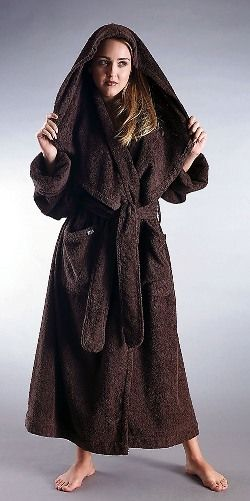 Soft, Warm and Luxurious Monk Style Robe! Women's Hooded