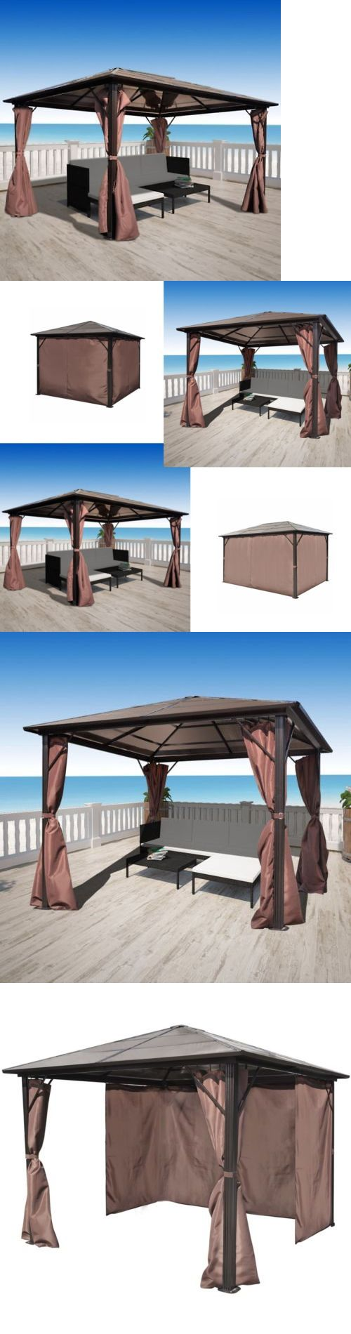 Gazebos 180995 10 X 13 10 X 10 Hardtop Metal Steel Roof Outdoor Patio Gazebo W Aluminum Poles Buy It Now Only 619 99 On Patio Gazebo Gazebo Gazebo Tent