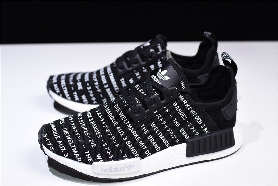 cheap for discount 8a2ea 92e18 2018 New S76519 adidas NMD R1 Brand With The Three Stripes Core Black FTWR  White
