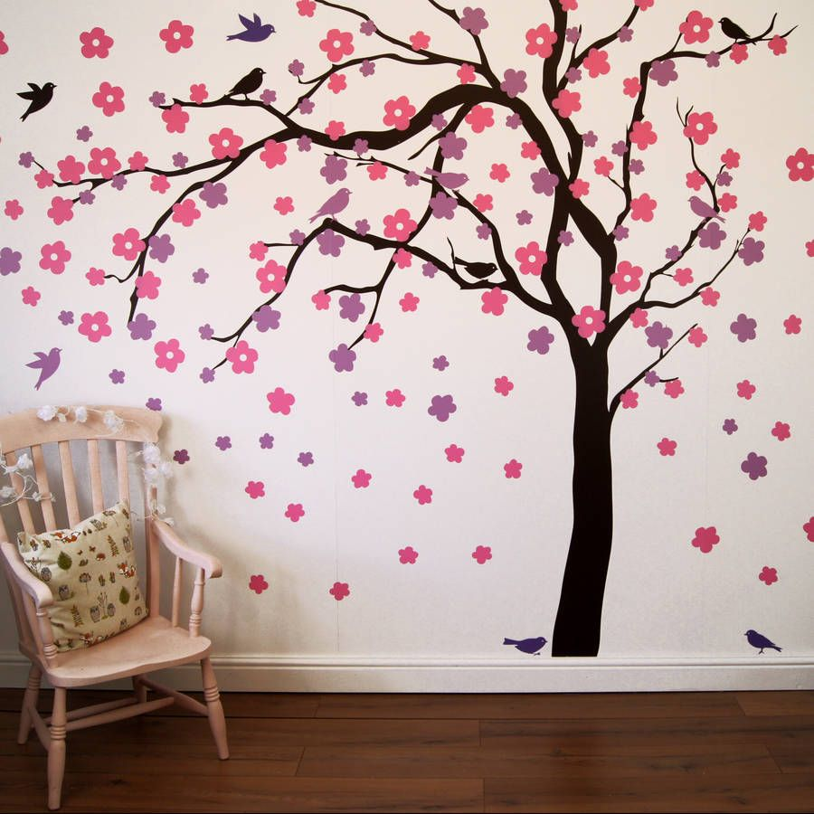 Homepage Parkins Interiors Summer Blossom Tree Wall Stickers