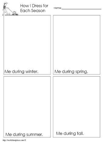 Dress For The Season Worksheet Seasons Worksheets Weather