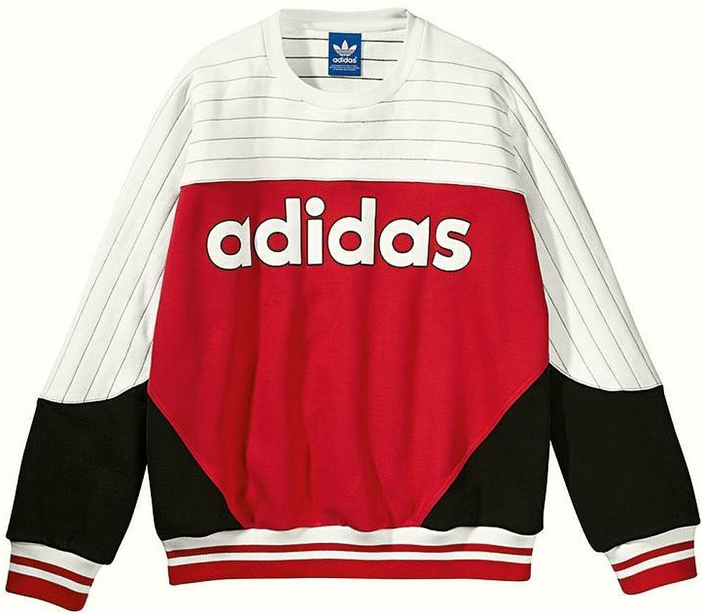 new concept 9af0f 9f085 ADIDAS JAPAN NIGO COLOR BLOCKED CREW NECK SWEATSHIRT Red-White new limited  adidas Sweatshirt under150