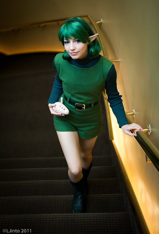 Saria from Ocarina of Time. This is the best cosplay I\'ve seen of ...