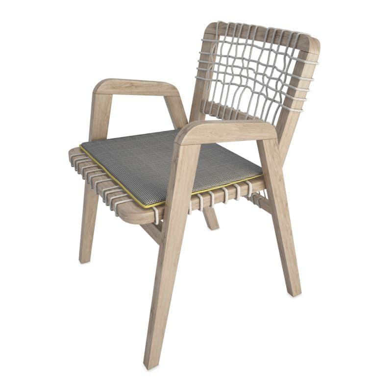 Mobilier de jardin en bois et cordes tressées en 3d ...