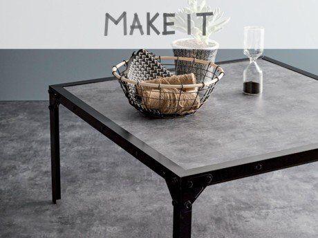 Diy : Fabriquer Une Table Basse Au Style Industriel | Leroy Merlin