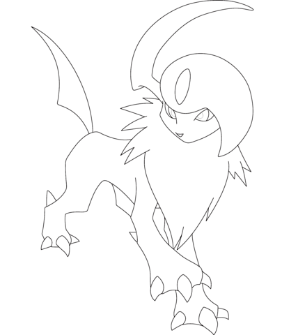 Absol Coloring Page Pokemon Coloring Pages Pokemon Coloring Pokemon Drawings