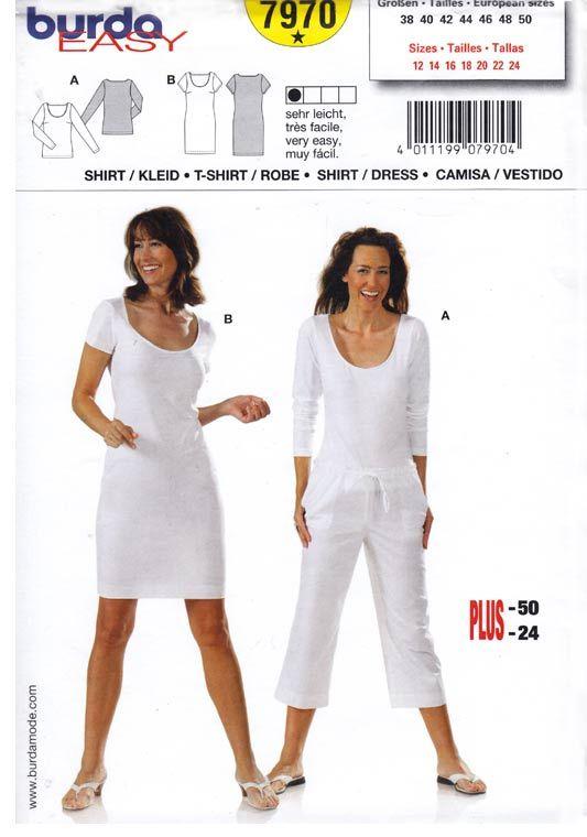 ed0e627d19 sukienka i bluzka- wykrój BURDA