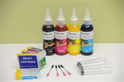 INKXPRO 400ml sublimation ink cartridge refillable kit for