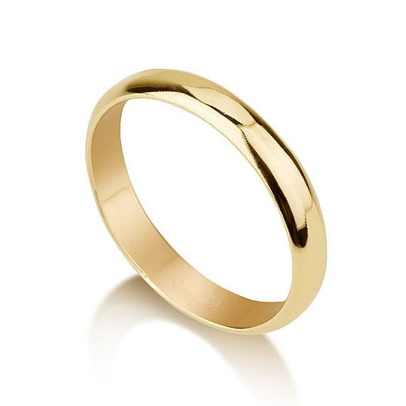 Classic Casual Simple 4mm Wedding Ring Band 14 Karat Gold Etsy Wedding Ring Bands Rings For Men Wedding Rings