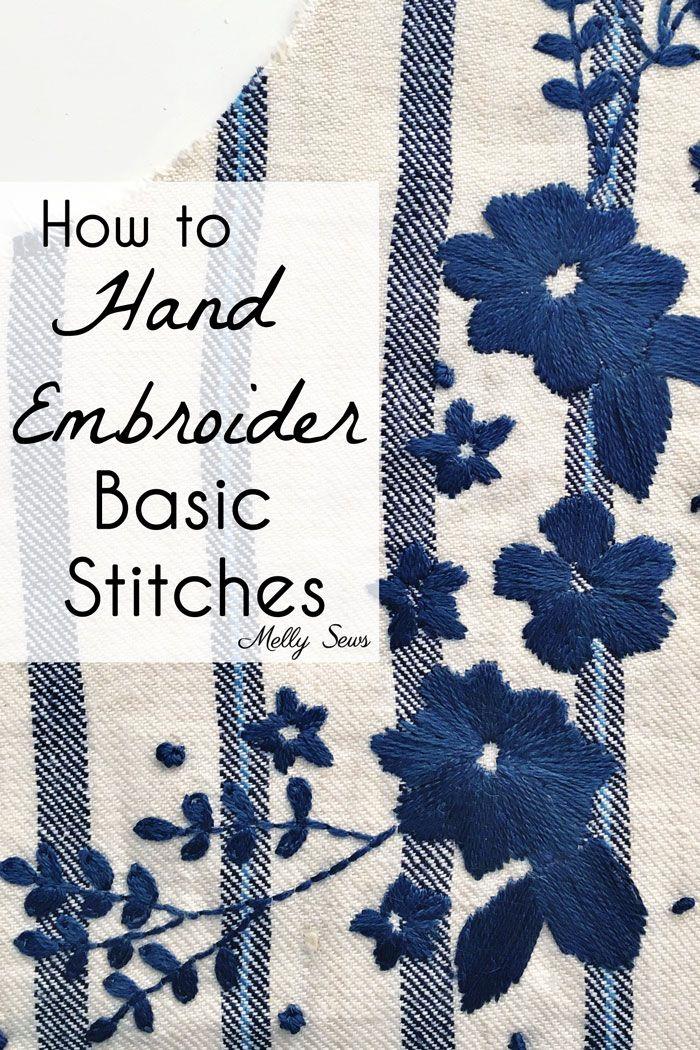 Basic Hand Embroidery Stitches | Bordados | Pinterest | Bordado ...
