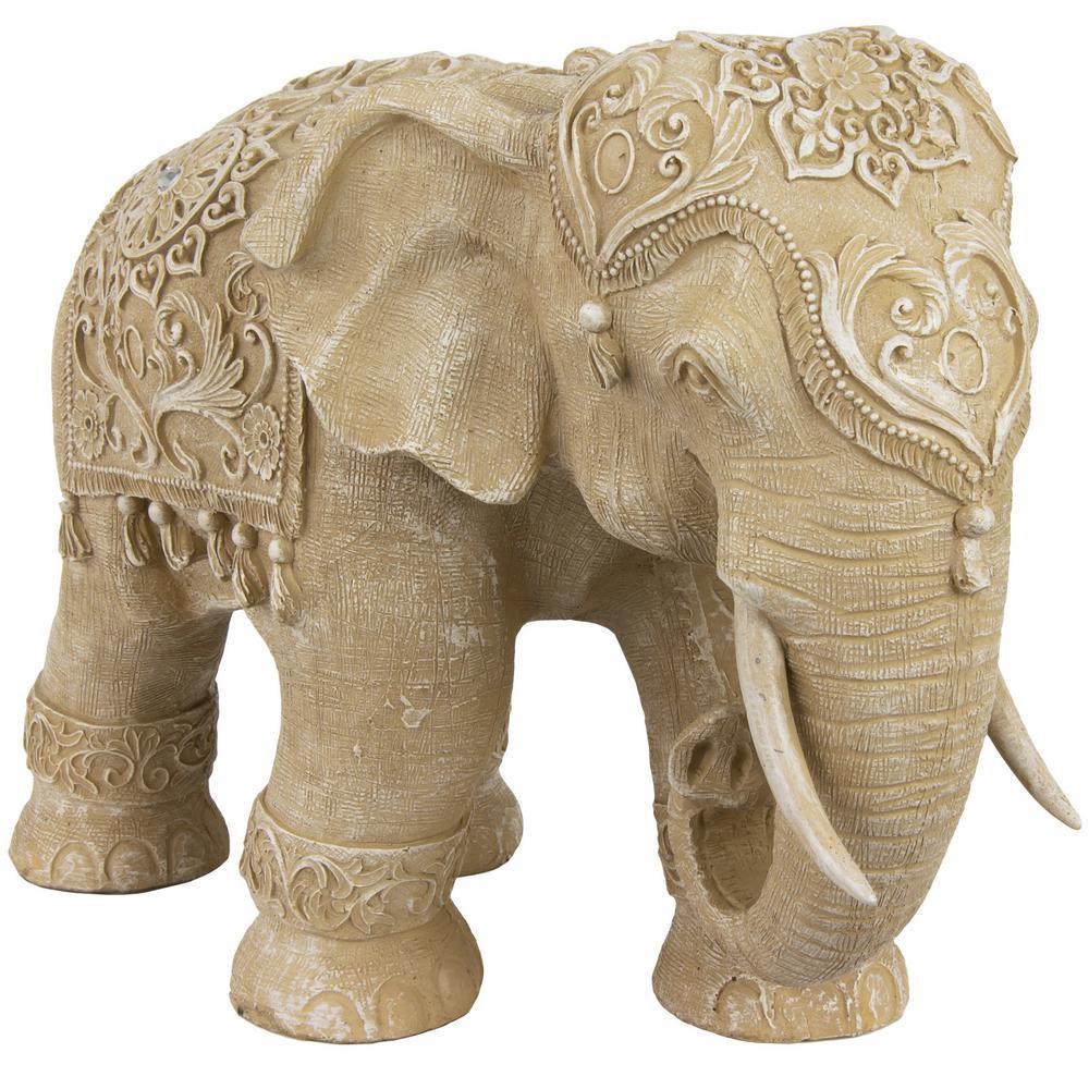 Oriental Furniture 20 In Rustic Jeweled Elephant Decorative Statue Sta Eleph2 The Home Depot Elephant Figurines Elephant Statue Elephant Sculpture