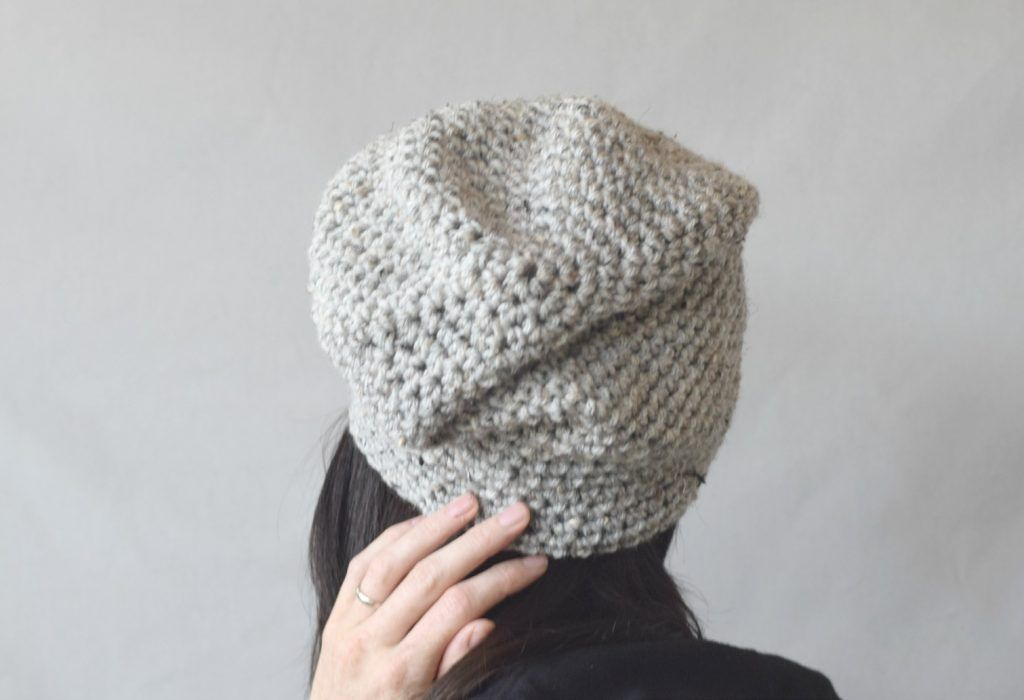 How To Crochet An Easy Slouchy Hat – \'East Village Slouch\' | Pinterest