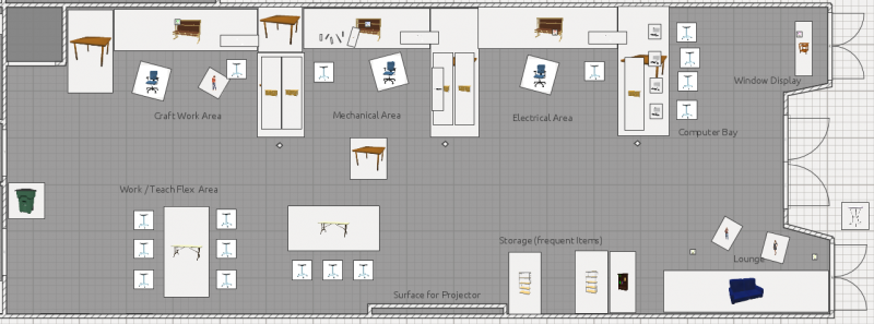 Making the makerspace makehaven makerspace pinterest Floor plan creator for pc