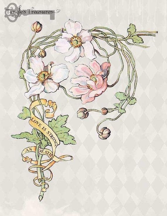 Image Result For Art Nouveau Flowers