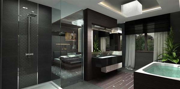Modern Penthouse Apartment Bathroom Interior By Archikron Interior Design  Studio