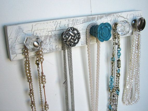 Jewelry hangers. I want to make this to put in my new apartment bathroom.