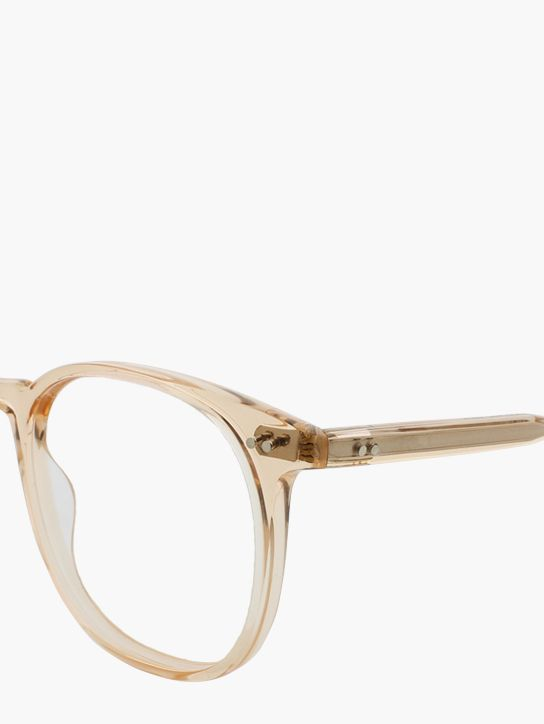 4d50efb30e59 Garrett Leight Rialto in Pink Crystal. Closed up view for details  GLCO   eyewear